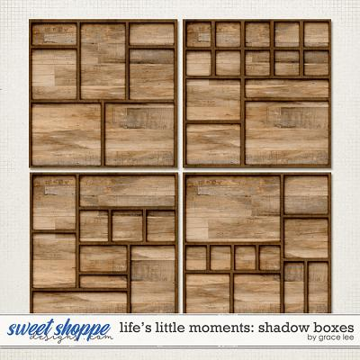 Life's Little Moments: Shadowboxes by Grace Lee