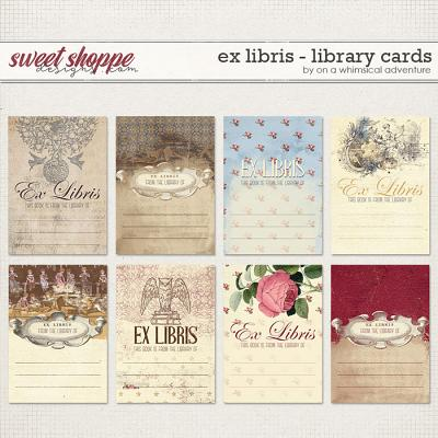 Ex Libris Library Cards by On A Whimsical Adventure