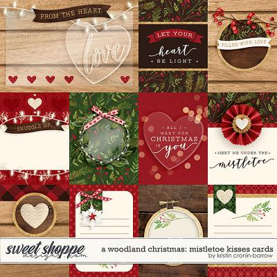 A Woodland Christmas: Mistletoe Kisses Cards by Kristin Cronin-Barrow