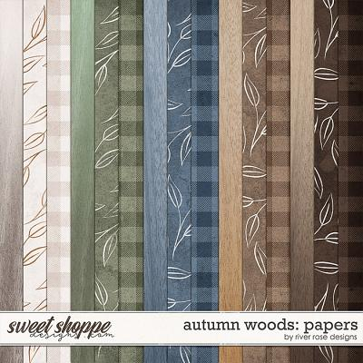 Autumn Woods: Papers by River Rose Designs