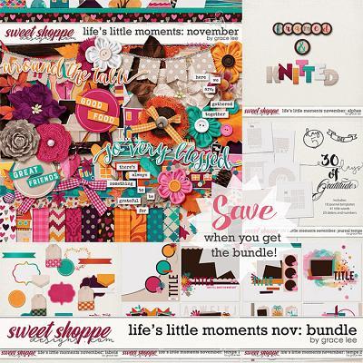Life's Little Moments November: Bundle by Grace Lee