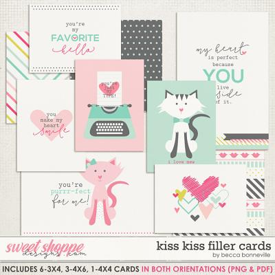 Kiss Kiss Filler Cards by Becca Bonneville
