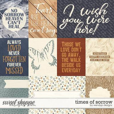 Times of sorrow - cards by WendyP Designs