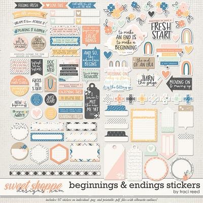 Beginnings & Endings Stickers by Traci Reed