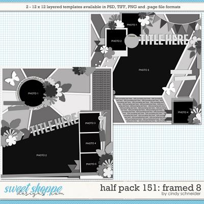 Cindy's Layered Templates - Half Pack 151: Framed 8 by Cindy Schneider
