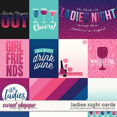 Ladies Night Cards by Traci Reed and Shawna Clingerman