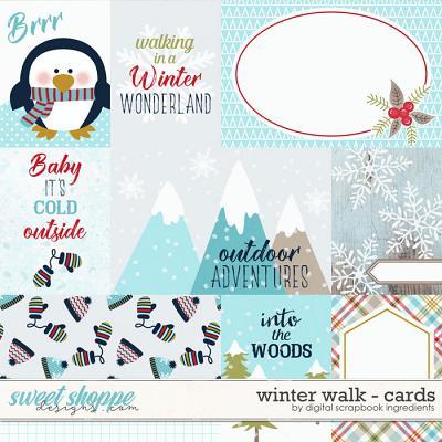 Winter Walk | Cards by Digital Scrapbook Ingredients