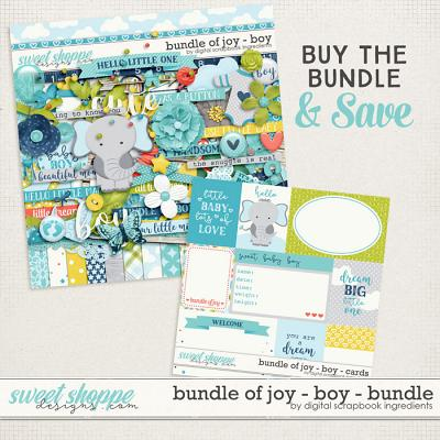 Bundle Of Joy - Boy Bundle by Digital Scrapbook Ingredients