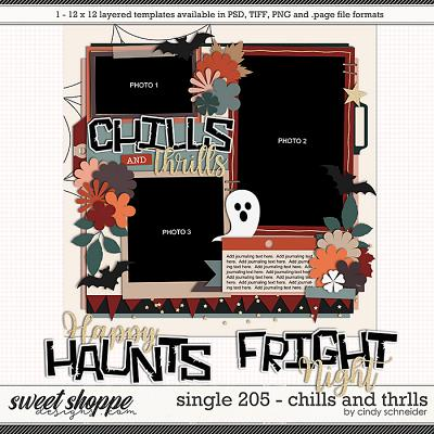 Cindy's Layered Templates - Single 205: Chills and Thrills by Cindy Schneider