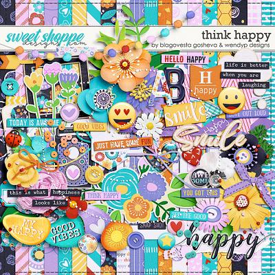 Think Happy by Blagovesta Gosheva & WendyP Designs
