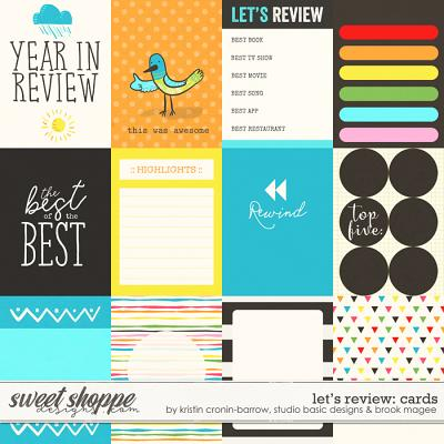 Let's Review - Cards by Kristin Cronin-Barrow, Studio Basic Designs & Brook Magee