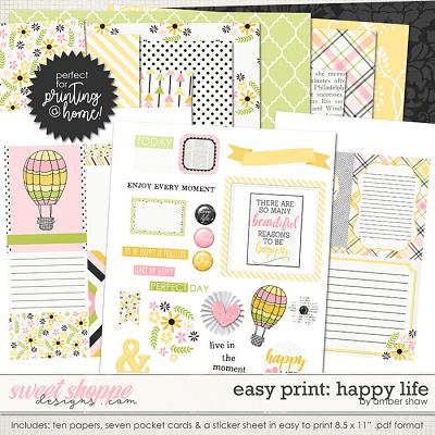 Easy Print: Happy Life by Amber Shaw