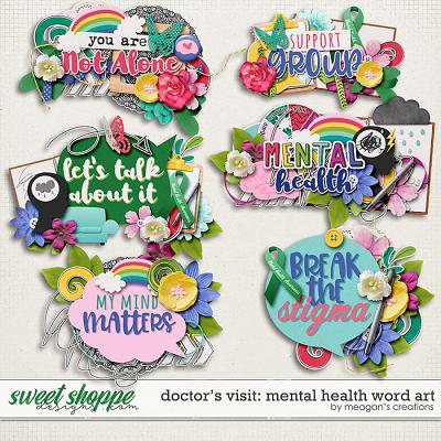 Doctor's Visit: Mental Health Word Art by Meagan's Creations