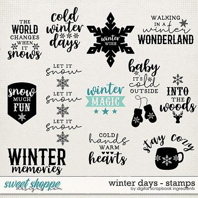 Winter Days | Stamps by Digital Scrapbook Ingredients