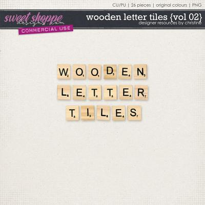 Wooden Letter Tiles {Vol 02} by Christine Mortimer