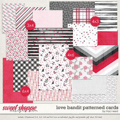 Love Bandit Patterned Cards by Traci Reed