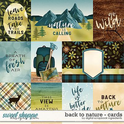 Back To Nature | Cards by Digital Scrapbook Ingredients