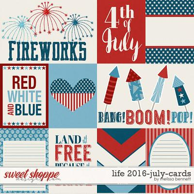 Life 2016-July Cards by Melissa Bennett