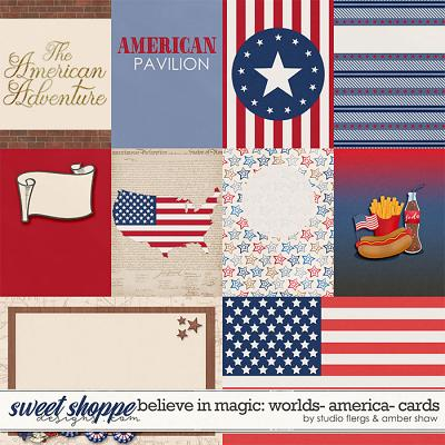 Believe in Magic: Worlds - America Cards by Amber Shaw & Studio Flergs