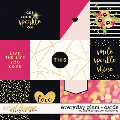 Everyday Glam | Cards by Digital Scrapbook Ingredients