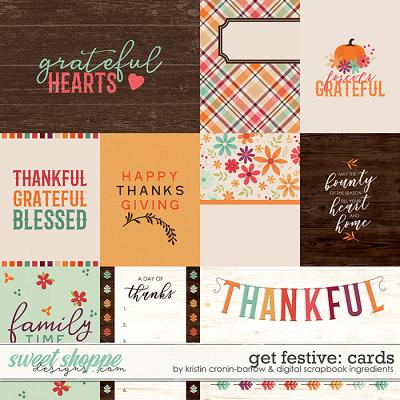 Get Festive: Thanksgiving | Cards by Kristin Cronin-Barrow & Digital Scrapbook Ingredients