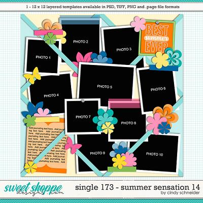 Cindy's Layered Templates - Single 173: Summer Sensation 14 by Cindy Schneider