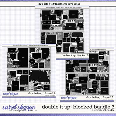 Cindy's Layered Templates - Double It Up: Blocked Bundle 3 by Cindy Schneider