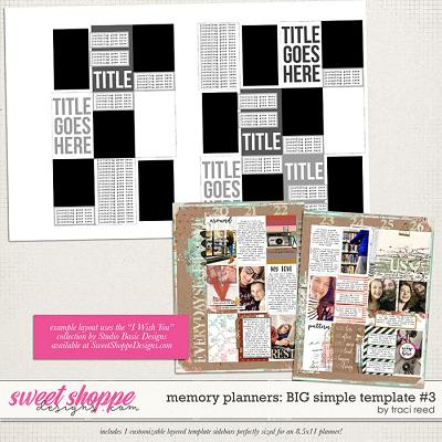 Memory Planners - Big - Simple #3 by Traci Reed