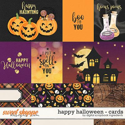 Happy Halloween | Cards by Digital Scrapbook Ingredients
