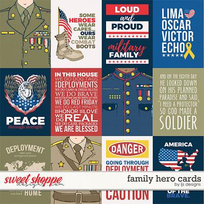 Family Hero Cards by LJS Designs