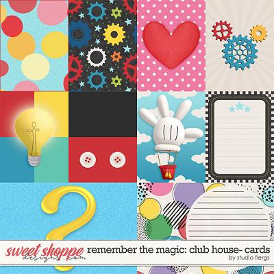 Remember the Magic: CLUB HOUSE- CARDS by Studio Flergs