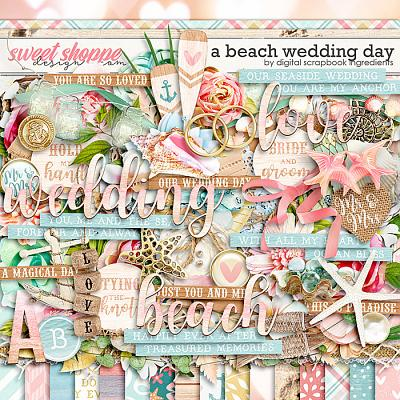 A Beach Wedding Day by Digital Scrapbook Ingredients