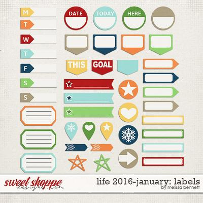 Life 2016-January: Labels by Melissa Bennett