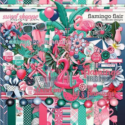 Flamingo Flair by JoCee Designs