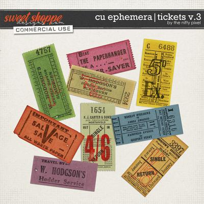 CU EPHEMERA | TICKETS V.3 by The Nifty Pixel