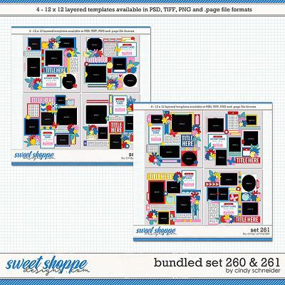 Cindy's Layered Templates - Bundled Set 260 & 261 by Cindy Schneider