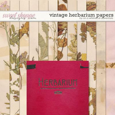 Vintage Herbarium Papers by On A Whimsical Adventure