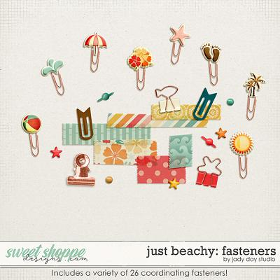 Just Beachy Fasteners by Jady Day Studio
