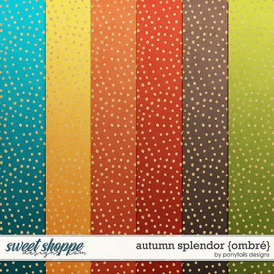 Autumn Splendor Ombre Papers by Ponytails