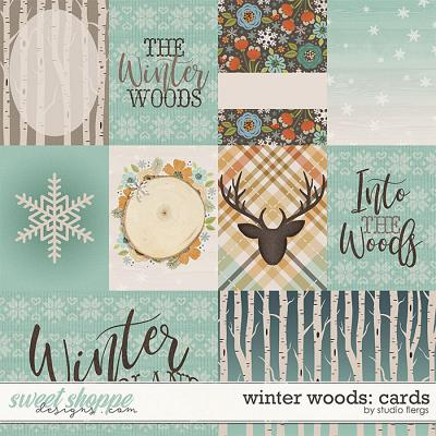 Winter Woods: CARDS by Studio Flergs