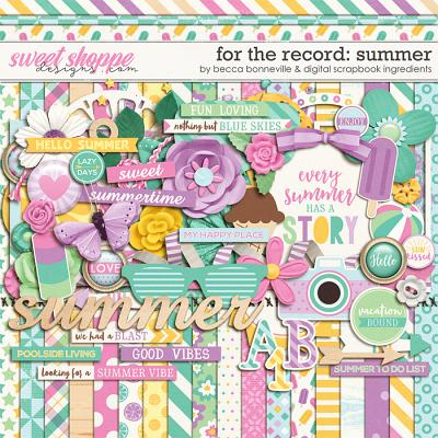 For The Record: Summer by Becca Bonneville & Digital Scrapbook Ingredients