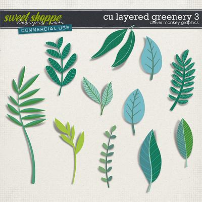 CU Layered Greenery 3 by Clever Monkey Graphics