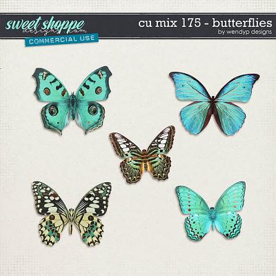 CU Mix 175 - butterflies by WendyP Designs