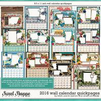 2016 Wall Calendar Quickpages by Kristin Cronin-Barrow and Cindy Schneider