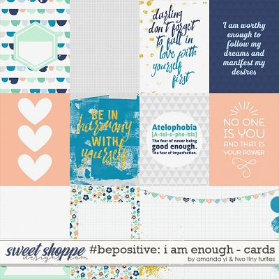 #Be Positive: I Am Enough Cards by Amanda Yi & Two Tiny Turtles