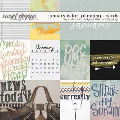 January Is For: Planning Cards by Studio Basic and Little Butterfly