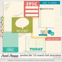 Pocket Life '15: March 3x4 Journalers by Traci Reed