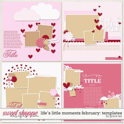 Life's Little Moments February Templates by Grace Lee