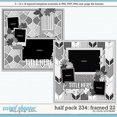 Cindy's Layered Templates - Half Pack 234: Framed 22 by Cindy Schneider