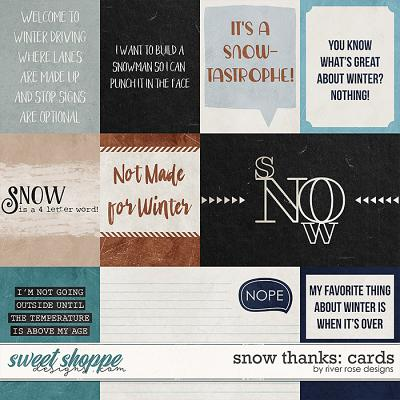Snow Thanks: Cards by River Rose Designs